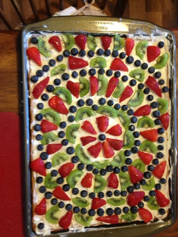 fruit pizza I made | Favorite Recipes | Pinterest