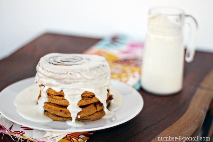 Pumpkin Cinnamon Roll Pancakes | Favorite Recipes | Pinterest
