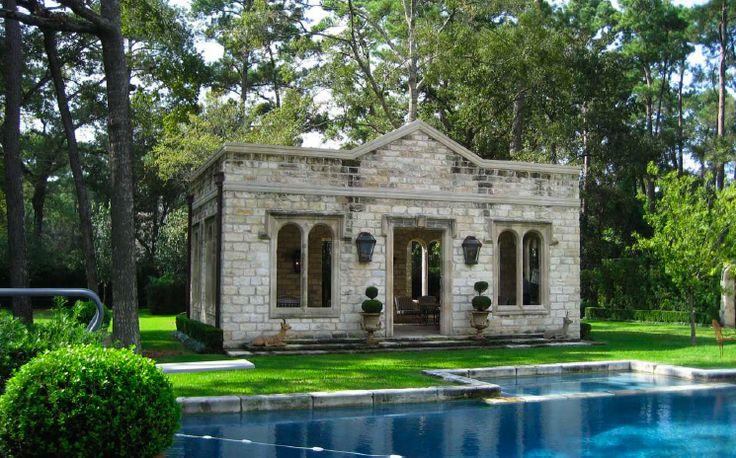 stone pool house architecture estates pinterest