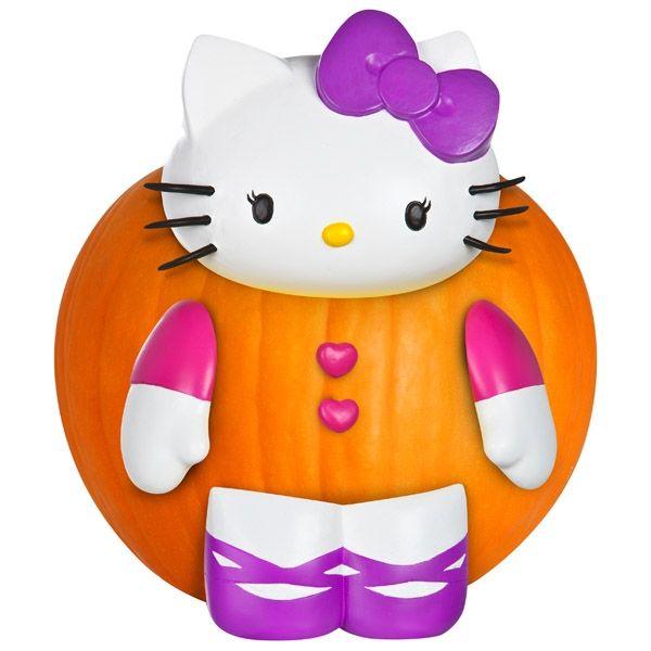 Hello kitty pumpkin push in kit gemmy hello kitty halloween