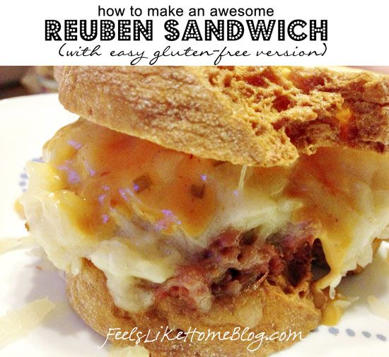 How to Make Homemade Reuben Sandwiches (Can Be Gluten-Free) on http ...