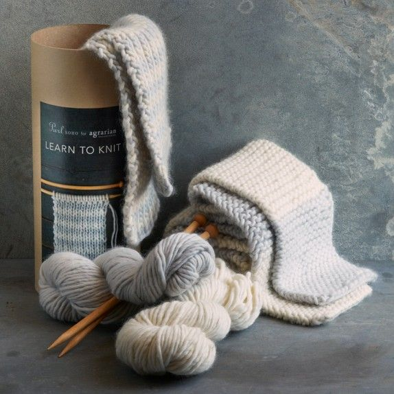 Learn To Knit : Learn To Knit Scarf Kit