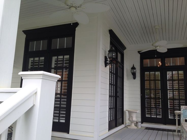 White house black trim and windows exteriors pinterest for House with windows