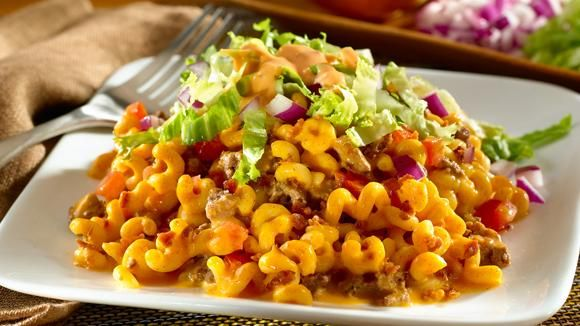 Cheeseburger Bacon Macaroni and cheese recipe