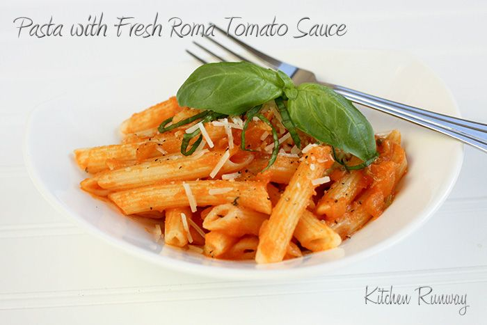 Pasta with Fresh Roma Tomato Sauce - for when we have too many ...