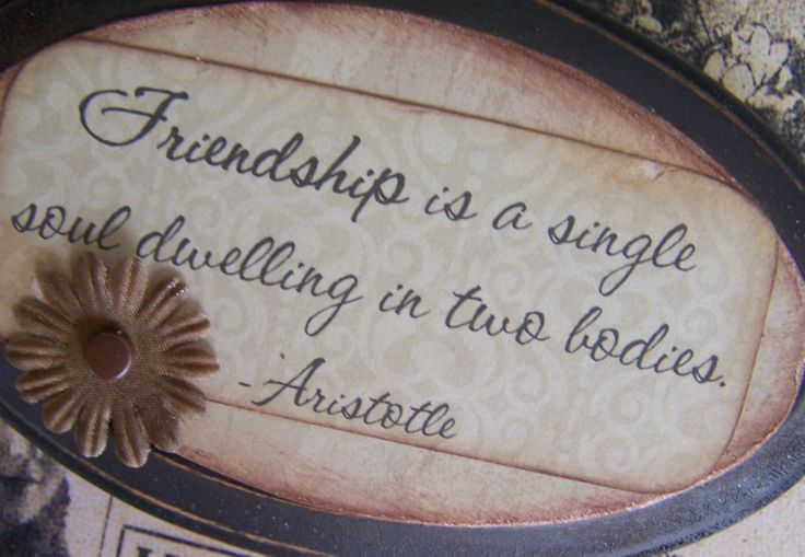 friendship is a single soul dwelling in two bodies essay · aristotle said that friendship is a single soul dwelling in two friendship is a single soul i the friends are one person in two bodies.