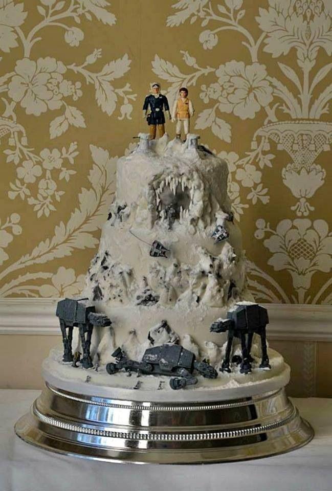 Star Wars Cake Design Pinterest : Star Wars wedding cake Star wars Pinterest