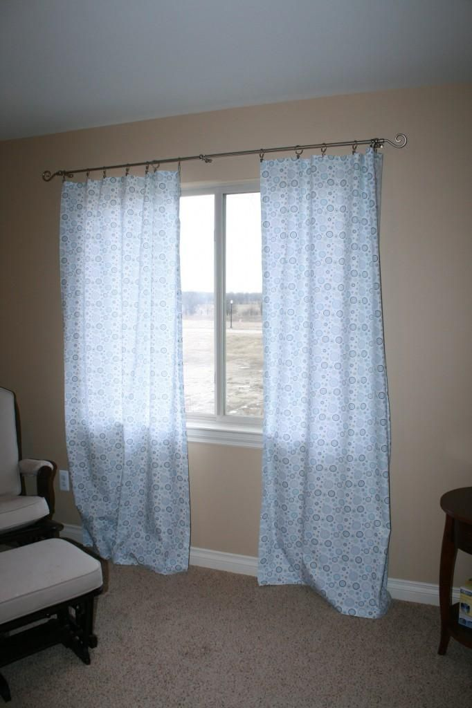DIY No Sew Curtains | Crafty mcCrafter | Pinterest