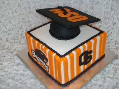 OSU Graduation Cake for Kelsey! As much as it kills me... ;)