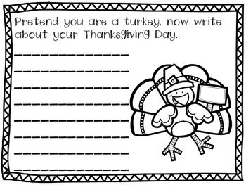 thanksgiving writing prompts 3rd grade