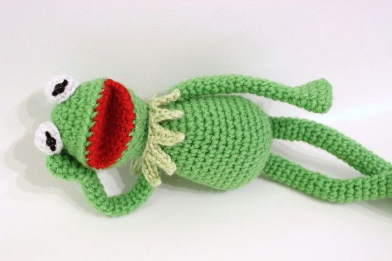 Free Crochet Pattern For Kermit The Frog Hat : Kermit the Frog inspired crochet pattern