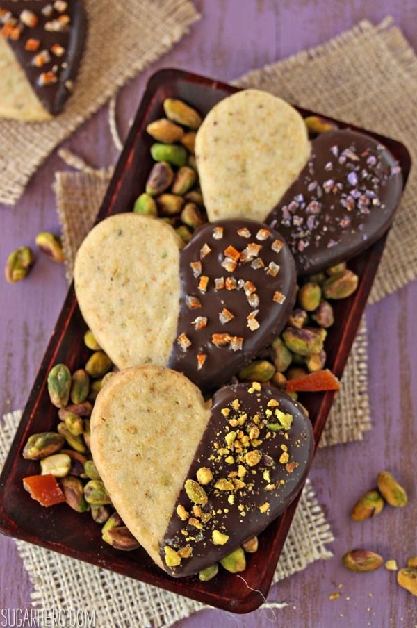 Pistachio Shortbread Cookies | Valentines | Pinterest