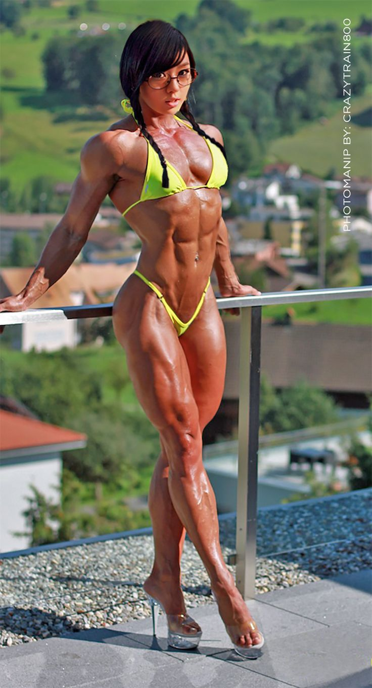 Asian female muscle