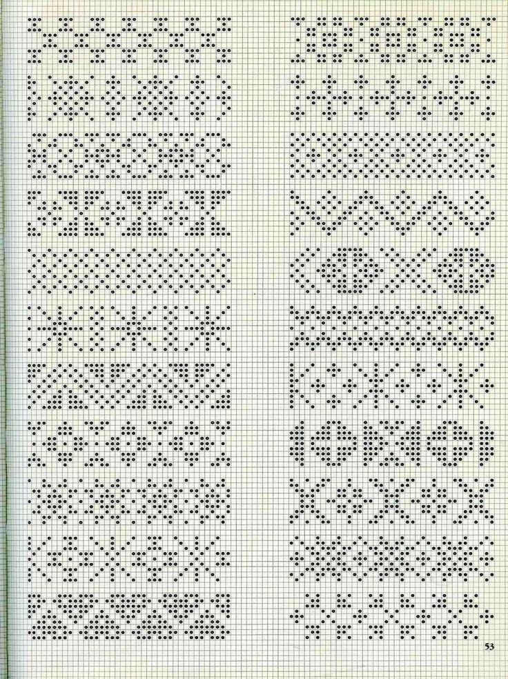 Схемы вязания жаккарда на спицах