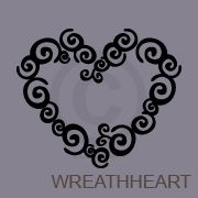 WREATHHEART clip art | Silhouette Cameo | Pinterest