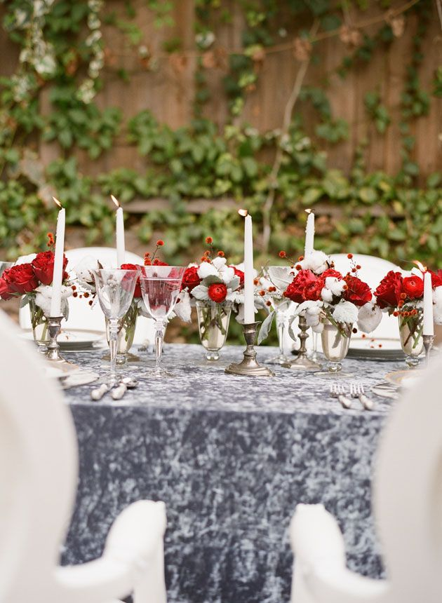 Red And White Christmas Tablescape Party And Event
