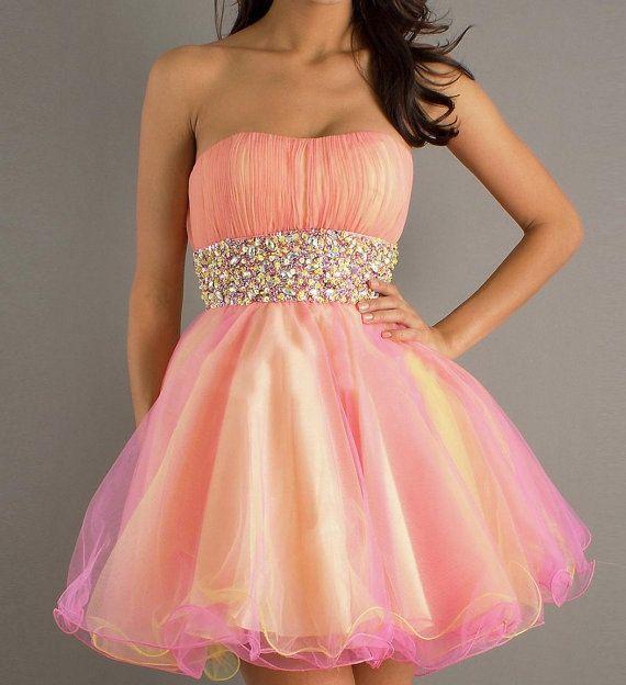 Peach Homecoming Dresses 100