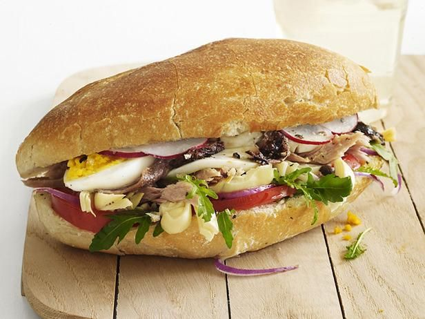 ... Nicoise sandwich with egg, olive oil, endives, fresh tuna, tomatoes