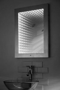 Stargaze led infinity bathroom illuminated mirror with sensor