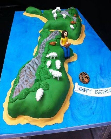 Edible Cake Images New Zealand : New Zealand cake www.cakeaters.com Our Cakes Pinterest