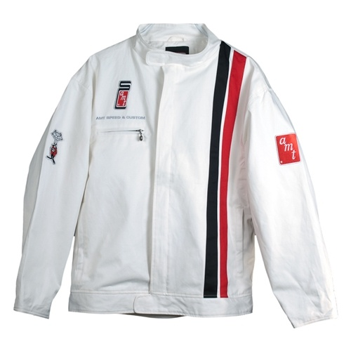 "Cool old style ""Le Mans"" racing jacket. With the AMT model logos."