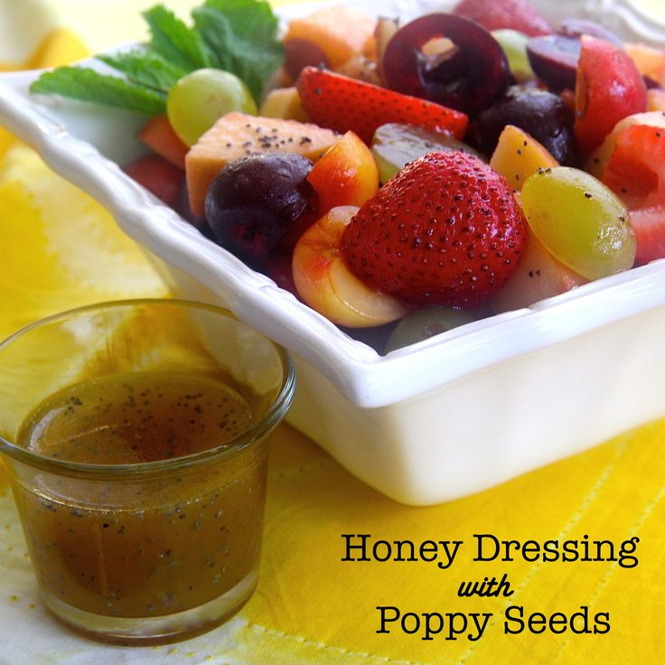 Honey Dressing with Poppy Seeds is a great dressing for a fresh fruit ...