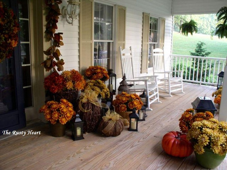 Rusty Heart Designs Fall Front Porch Fall Decorating