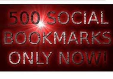Submit your site on 500 social bookmarking sites with live for 8