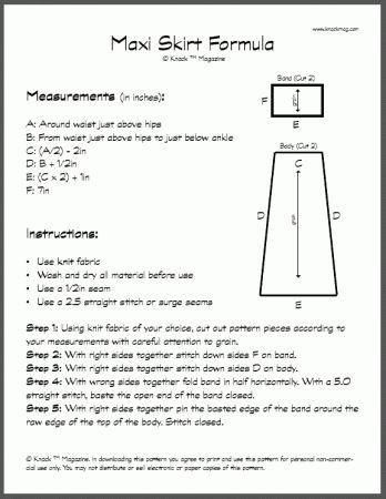 maxi skirt formula free pdf sewing free patterns