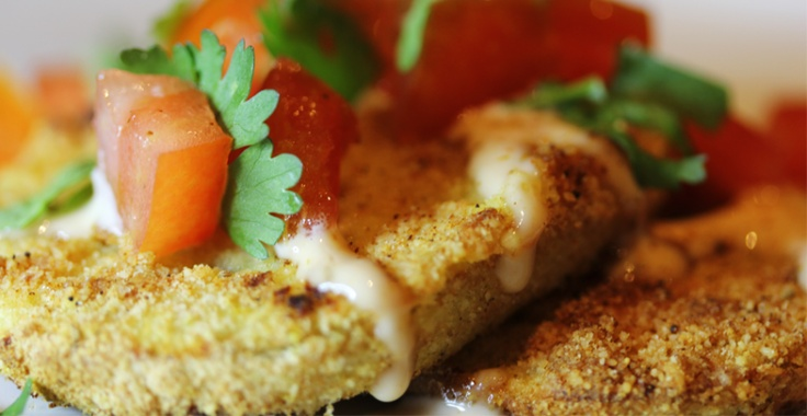 Paleo Fried Green Tomatoes, An Oven-Baked Breakfast!