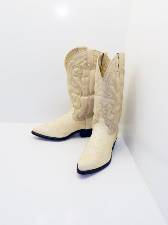 Awesome  Cowboy Boots Womens 10 M B Ostrich Honey Brown Tan Mens 85 D Western