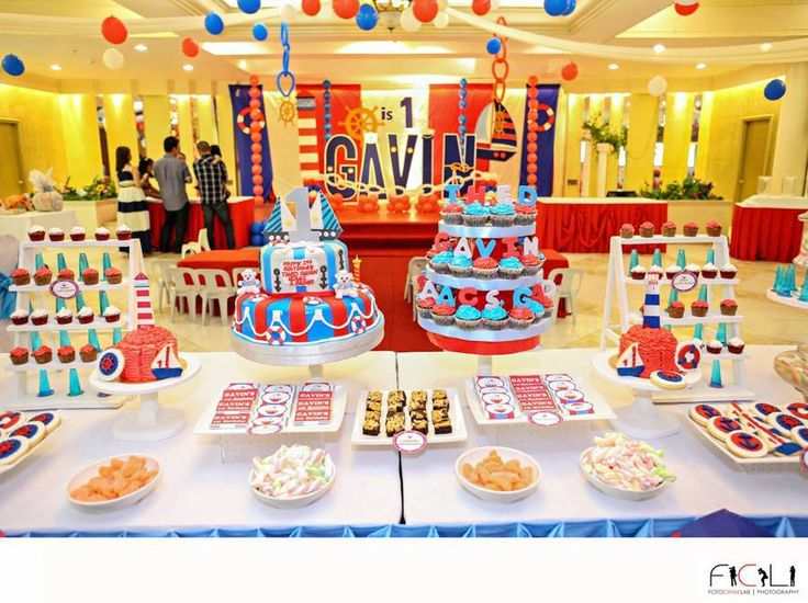 Huge Nautical Theme Birthday Party ~ Featured Party | Party Ideas By Seshalyn
