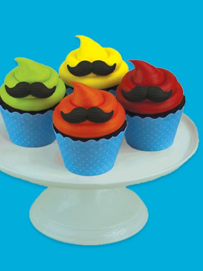 Mustache Cupcakes! If you mustache... yes I will have some cake!