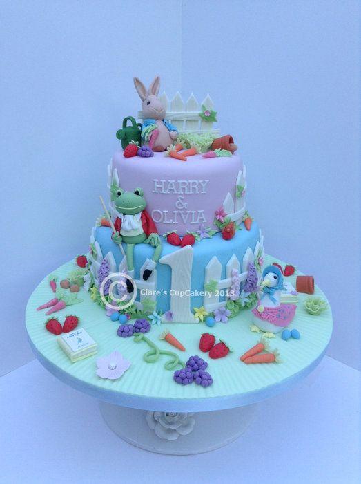 Rabbit Cake Decor : Peter Rabbit Cake. Fondant Cake Ideas Pinterest