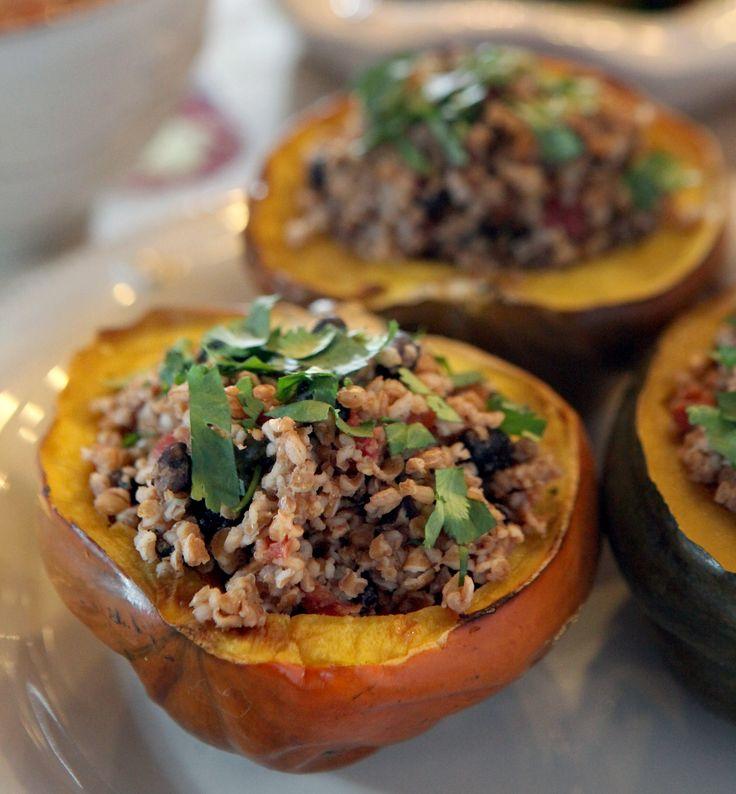 ... acorn squash lamb and bulgur stuffed acorn squash recipes dishmaps