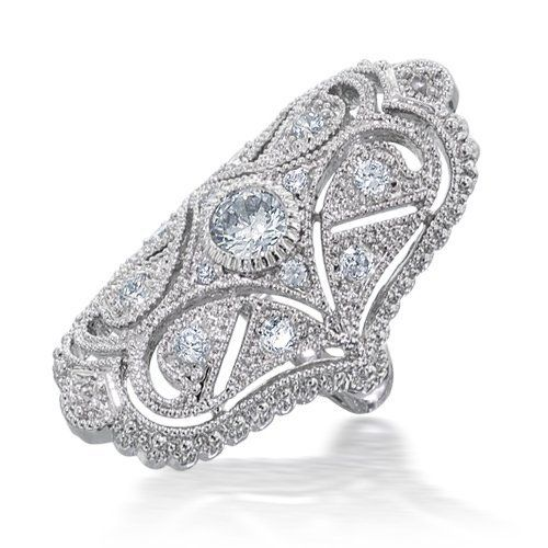 Bling Jewelry CZ Vintage Style Full Finger Armor Ring - Size $34.99