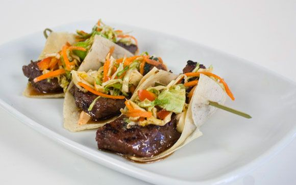 Korean short rib tacos recipe from Buccan in Palm Beach.