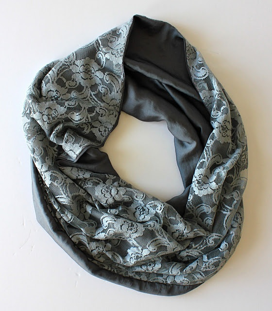 was just thinking about making an infinity scarf Here are my  How To Make An Infinity Scarf With Lace