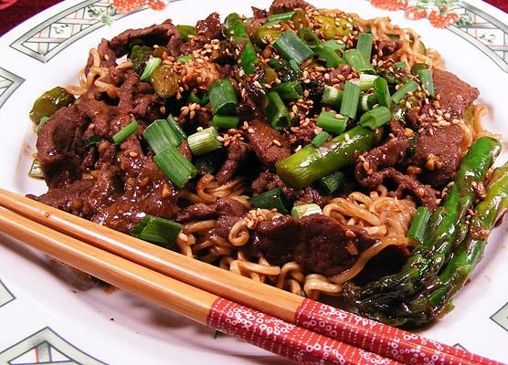 Sesame Beef and Asparagus Stir Fry from Food.com: Get out the ...