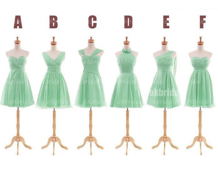 Mint Green Bridesmaid Dresses Cheap 40