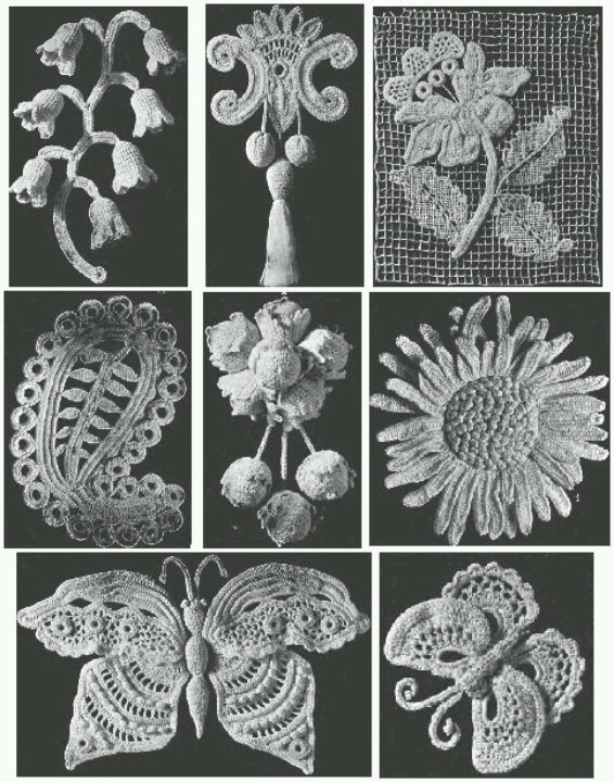 Old irish crochet motif patterns Crochet Irish Crochet ...