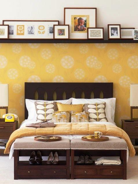 floating shelf over bed bedroom pinterest. Black Bedroom Furniture Sets. Home Design Ideas