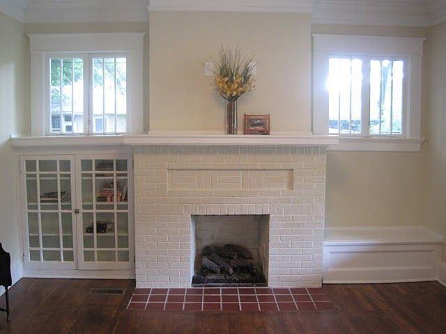 Bungalow fireplace home pinterest for Bungalow fireplace ideas