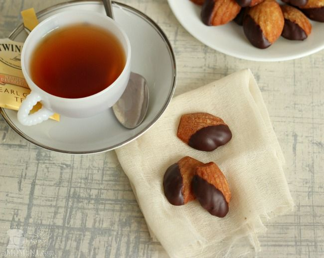 Chocolate Dipped Earl Grey Madeleines | Recipe