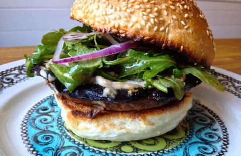 Grilled Portobello Mushroom Sandwich | Very Vegetarian | Pinterest