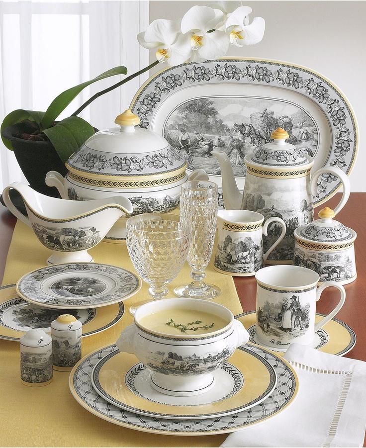 Villeroy boch audun dinnerware dinnerware glass for Villeroy and boch plates