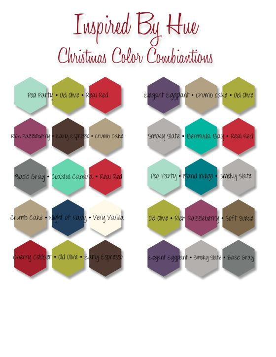 Christmas color combinations holiday cards pinterest