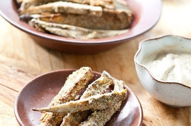 Baked Za'atar Eggplant Fries With Lemon Tahini Dip Recipe — Dishmaps
