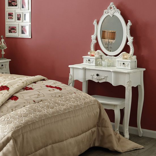 Toulouse White Bedroom Furniture Collection Dressing Table
