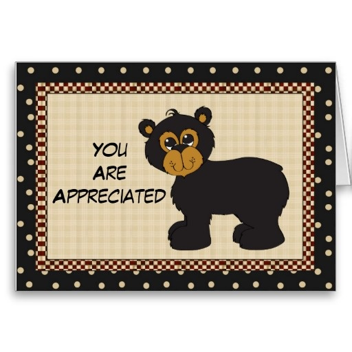 You are appreciated greeting bear card